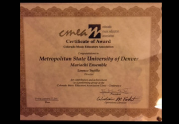 Colorado Music Educator's Award